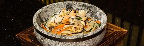 Stone Pot BiBimBap with Seafood